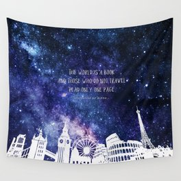 The world is a book Wall Tapestry