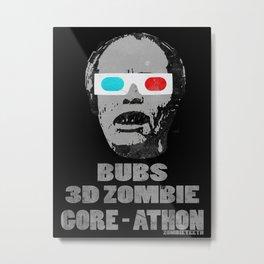 Bubs 3D Zombie Gore-athon Metal Print
