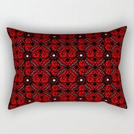 Red Gothic Rectangular Pillow