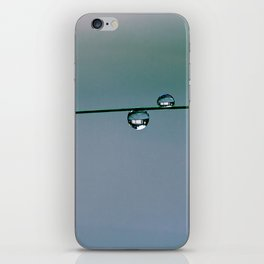 pastel with water drops iPhone Skin