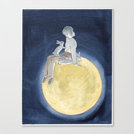 The light of the full moon Canvas Print