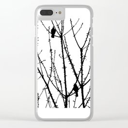 Two Birds Clear iPhone Case