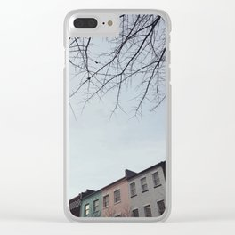 Pastel Homes Clear iPhone Case
