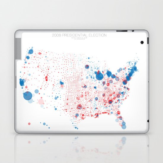 Election Mapping 2008 Laptop & iPad Skin
