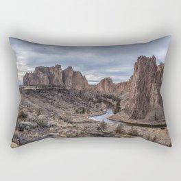 Twilight at Smith Rock State Park Rectangular Pillow