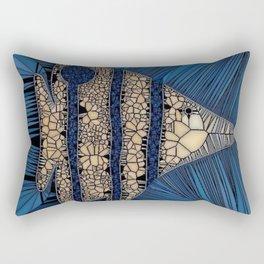 Fish Mosaic Rectangular Pillow