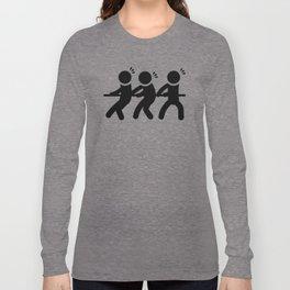 Tug of War Stickfigures Long Sleeve T-shirt