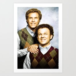 Step Brothers Movie Poster - Brennan and Dale Portrait Art Print