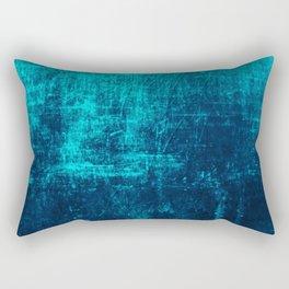 Denim & Turq Distressed Concrete Texture Rectangular Pillow