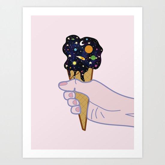 Universe flavour Art Print