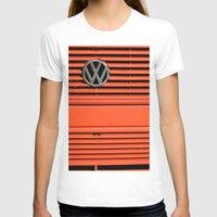 volkswagen T-shirts featuring Red Volkswagen by Marieken