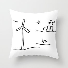 new energy environment Throw Pillow
