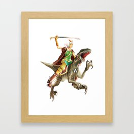The Knights on Dinosaurs Framed Art Print