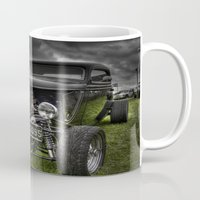 ford Mugs featuring Vintage Ford by Nicola Lee