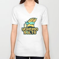 monster hunter V-neck T-shirts featuring Monster Hunter All Stars - The Yukumo Bolts by Bleached ink