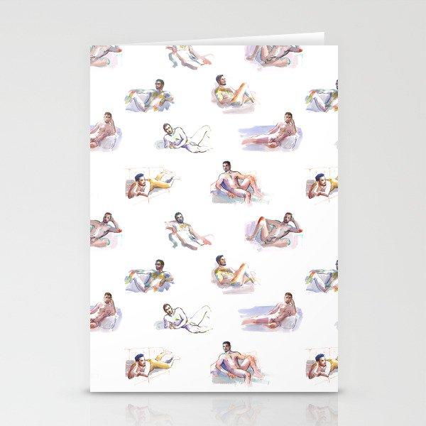 LOUNGE, Nude Men by Frank-Joseph Stationery Cards