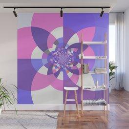 Unicorn Kaleidoscope Mandala Wall Mural