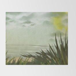 Digital Painting, Pastel Landscape Throw Blanket