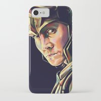 loki iPhone & iPod Cases featuring Loki by Kelly Angel
