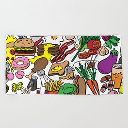 Foodie Beach Towel