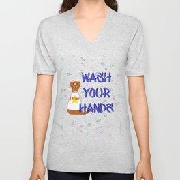Wash Your Hands Oliver The Otter Unisex V-Neck