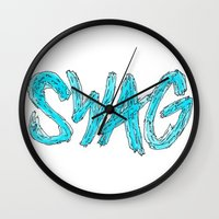 swag Wall Clocks featuring Swag by Creo