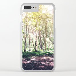 Dappled Forest Clear iPhone Case