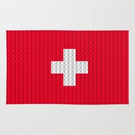 Swiss flag by Qixel Rug