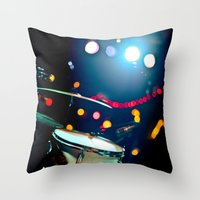 drums Throw Pillows featuring drums by petervirth photography