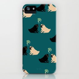 Christmas Pug Love iPhone Case