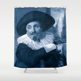 "Frans Hals ""Portrait of Isaac Abrahamsz"" edited Shower Curtain"