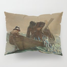 The Herring Net - George's Bank, New England maritime landscape by Winslow H-o-m-e-r Pillow Sham