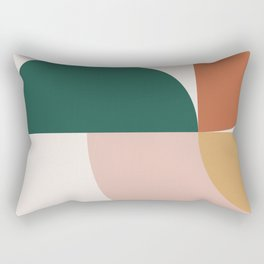Abstract Geometric 12 Rectangular Pillow