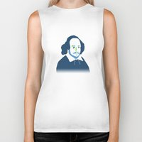 shakespeare Biker Tanks featuring Shakespeare by thatonedude