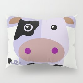 Purple cow by Leslie harlo Pillow Sham