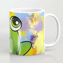 Cute frog and fresh paint Coffee Mug