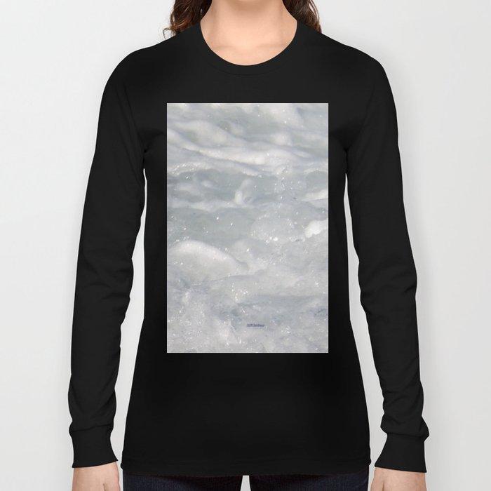 TEXTURES: Laguna Beach Sea Foam #1 Long Sleeve T-shirt
