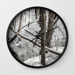 Winter Woods & Creek Wall Clock