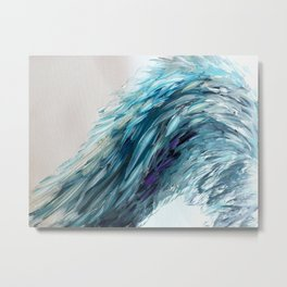 Once Upon An Angel Wing-blue Metal Print