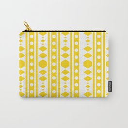 Tribal pattern Yellow Carry-All Pouch