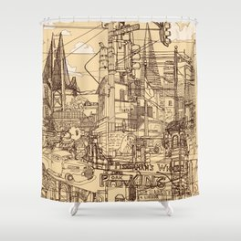San Francisco! (Dusty) Shower Curtain