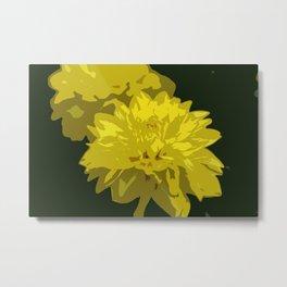 Mellow Yellow Metal Print