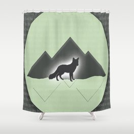The Story of the Fox Shower Curtain