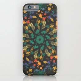 Floral circled symmetry design iPhone Case