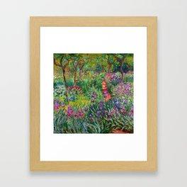 "Claude Monet ""The Iris Garden at Giverny"", 1899-1900 Framed Art Print"