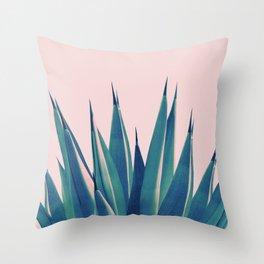 Blush Agave Dream #2 #tropical #decor #art #society6 Throw Pillow
