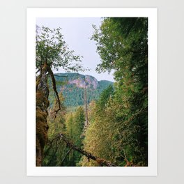 October Cascades Art Print