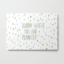 bloom where you are planted Metal Print