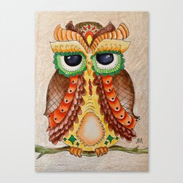 Fantasy Owl Canvas Print