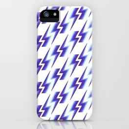 Lightning Pattern - Blue&Purple iPhone Case